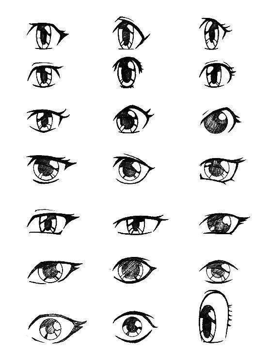 Drawing Simple Rag Doll Eyes