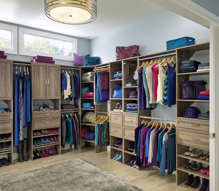 Exceptionnel This Weathered Yet Modern Look Will Refresh Your Closet And Have It Looking  Beautiful! #ClosetMaid #Closet #Organization