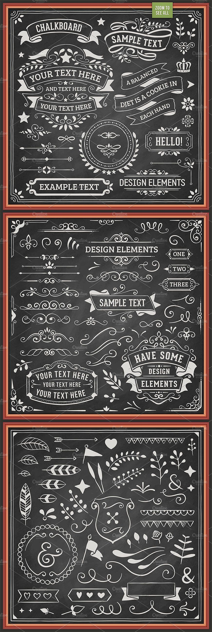 ad  chalkboard design elements by swedish points on