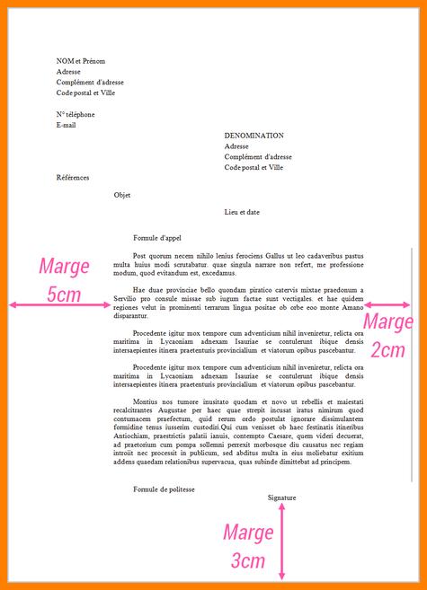 exemple ecrire une lettre administrative exemple exemple de lettre