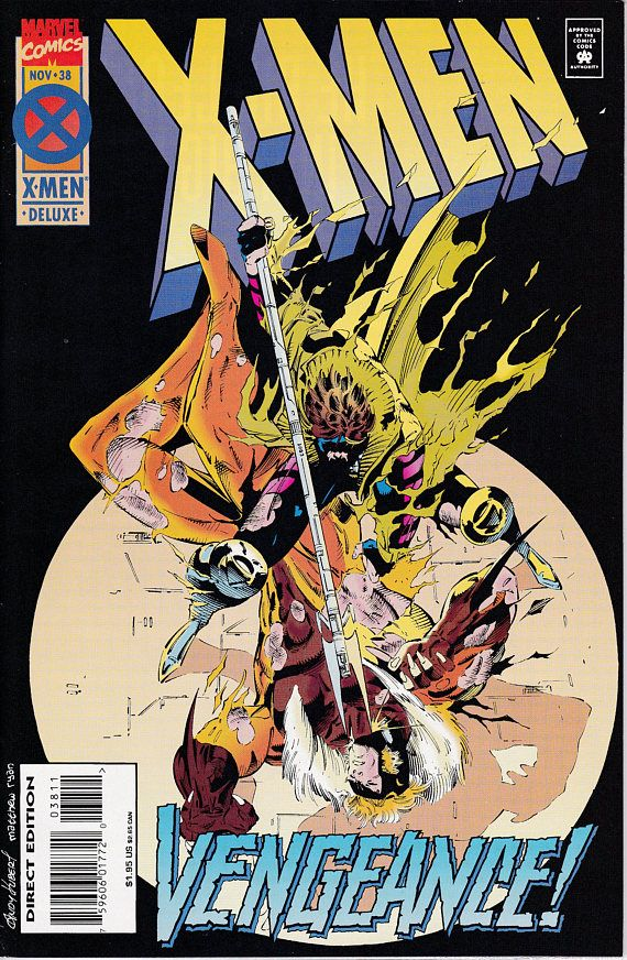 X Men 38d 1991 1st Series November 1994 Marvel Comics Marvel Comics Covers Comics X Men