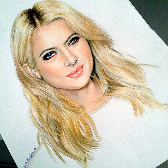 """From PLL Closet: """"My drawing of Ashley Benson. I hope you ..."""