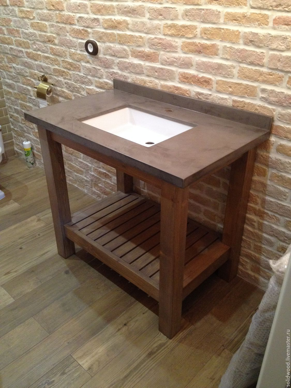 купить тумба в ванную комнату комбинированный мебель из дерева