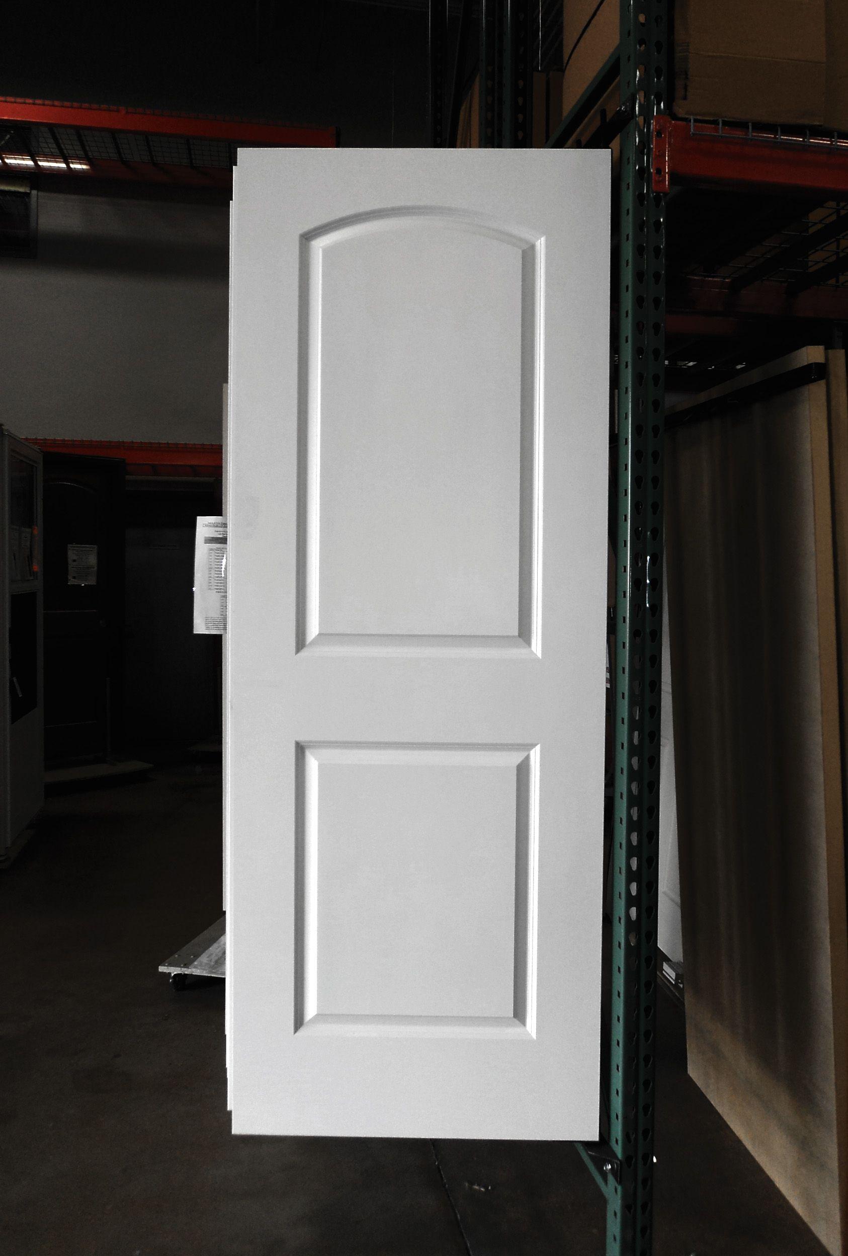 2 Panel Painted White Roman Arch Smooth Masonite Hollow Core Interior Door Interior Doors