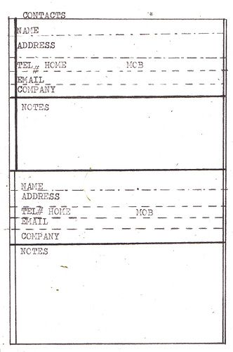 Free Printable \u0027INDEX CARDS\u0027 DIY planner templates \u003eCONTACTS