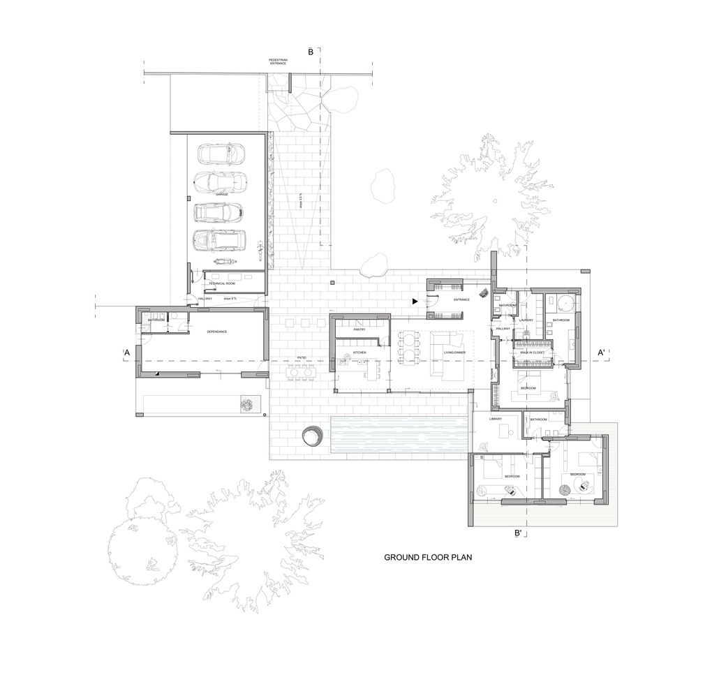 Gallery Of Villa Geef Damilano Studio Architects 20 Architect Villa Plan Villa