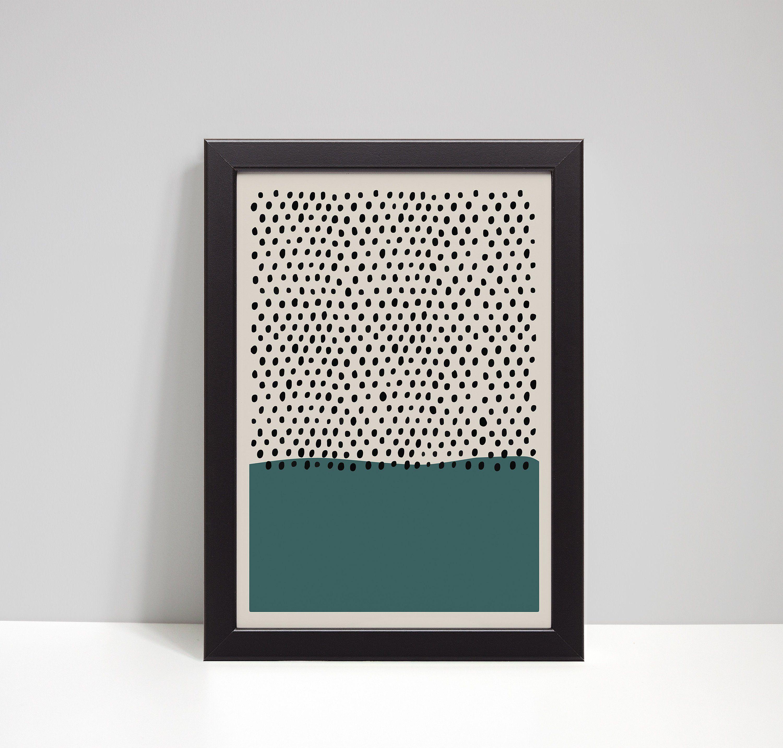 Interior Wall Decor Art Print Poster Abstract Geometric 3D Illusion Dots