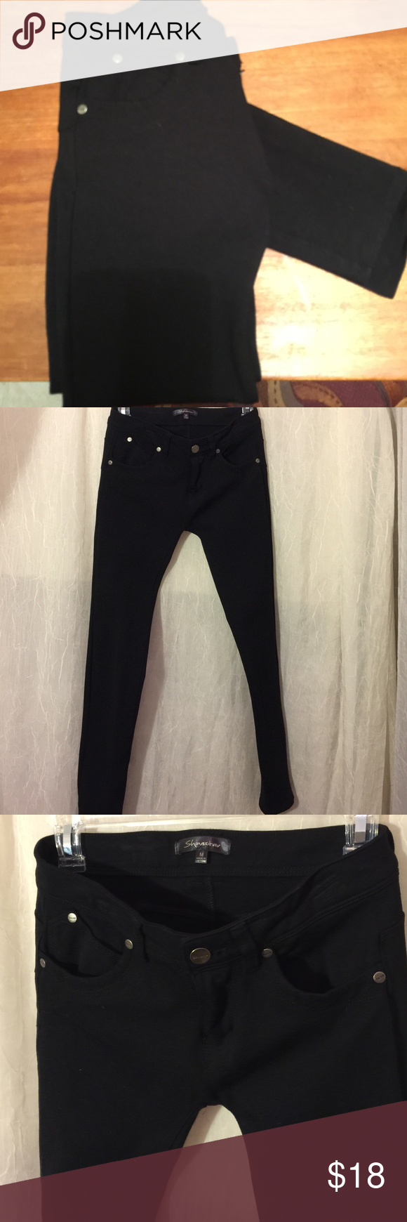 6559b1cdeec95 Shinestar Women's Black Stretchy Jeggings Style: Jeans Material: 68% Rayon  27% Nylon