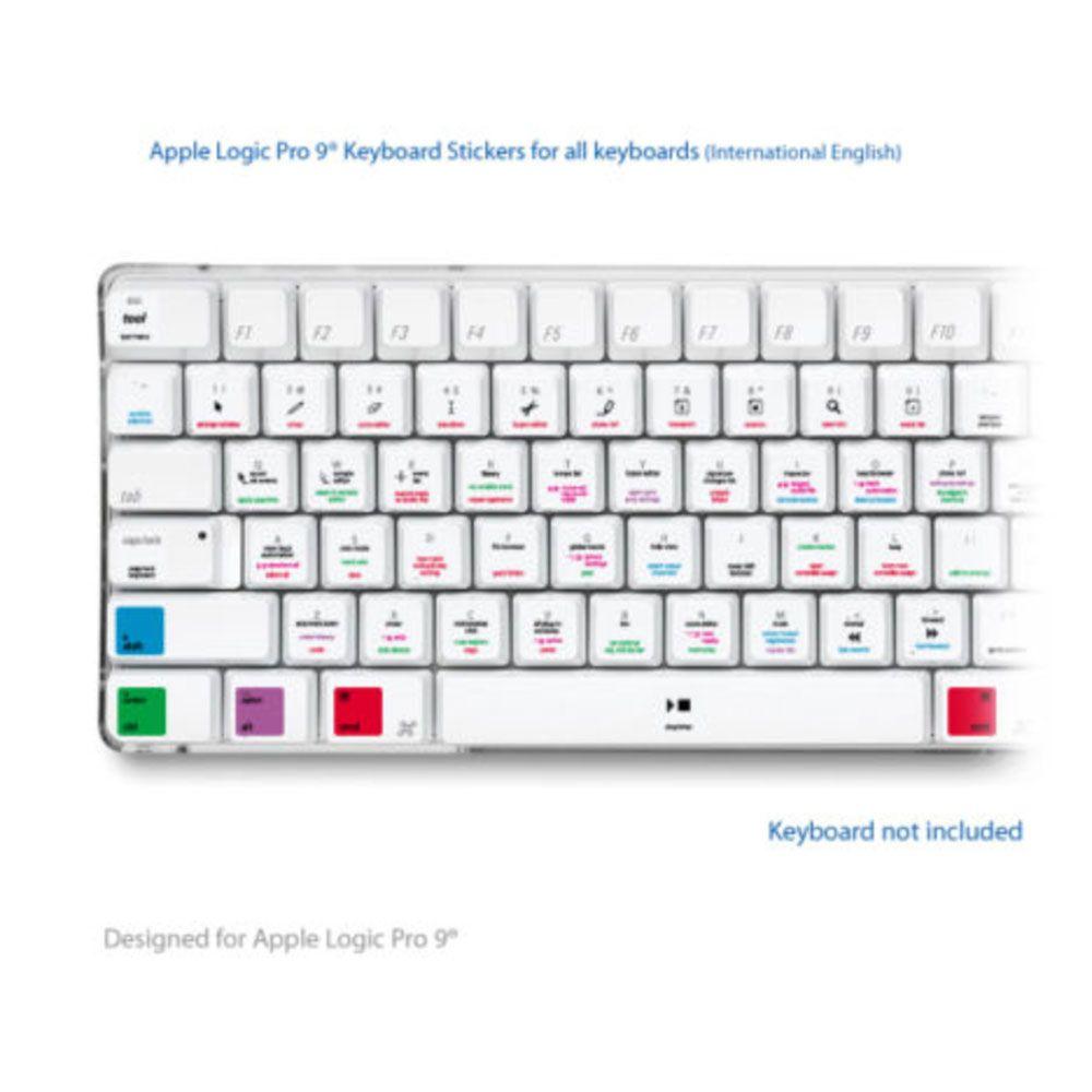 Apple Logic Pro 9 Laptop Key Keyboard Shortcuts Stickers