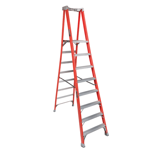 Louisville Ladder Fxp1708 Fiberglass Step Platform Pro Ladder 8