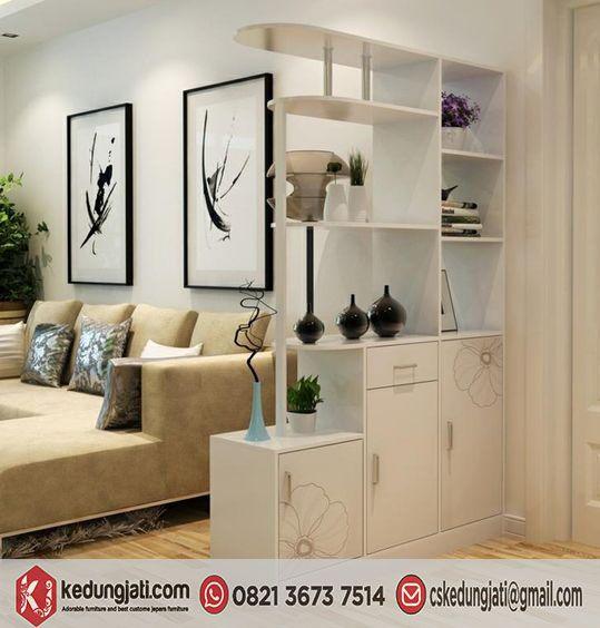 Lemari Penyekat Ruang Tamu Modern Minimalis Modern Room Divider Living Room Partition Living Room Divider