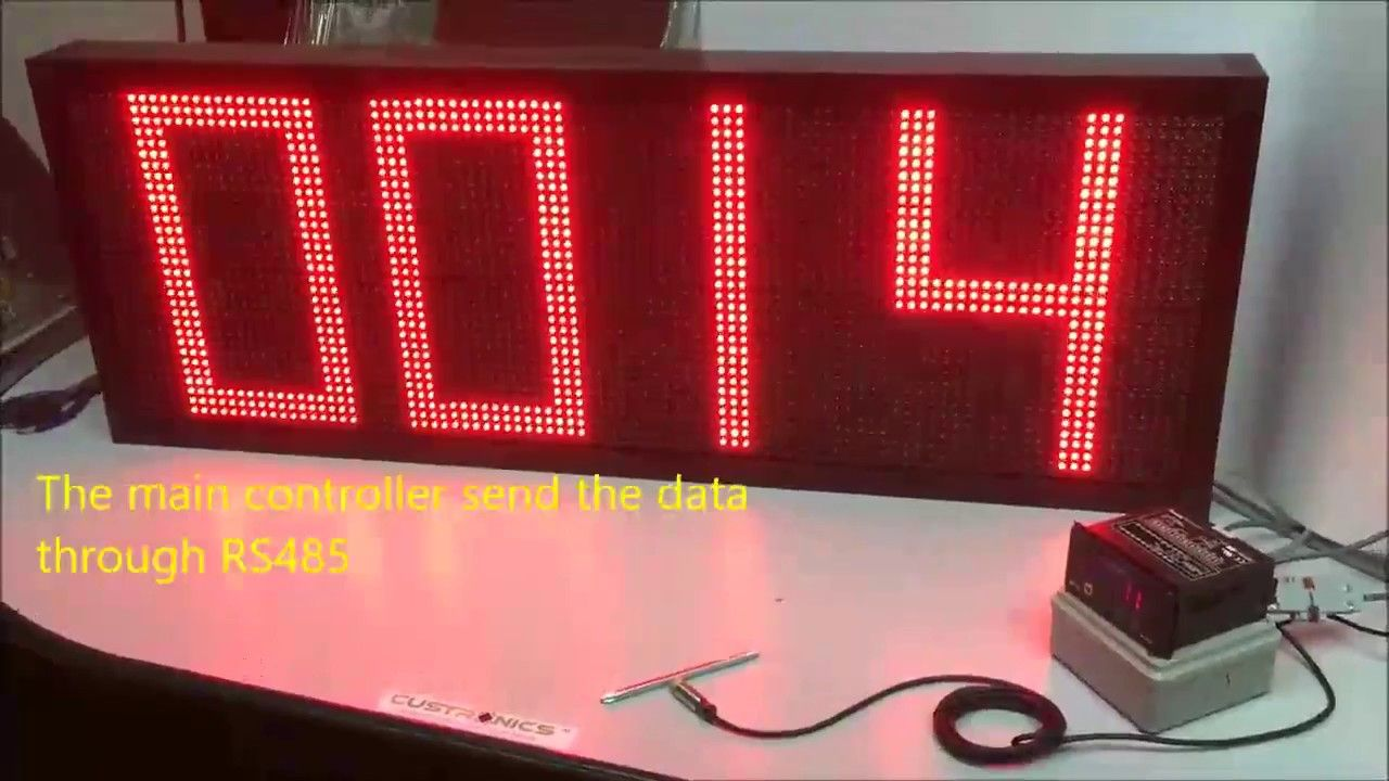 Serial Rs232 Remote Display 4 Digit Decoder Display With 320mm Character Height Led Display Display Panel