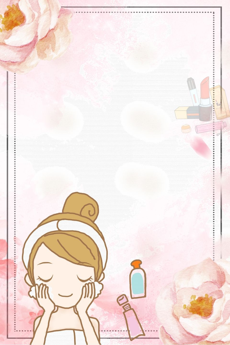Beauty Skincare Poster Background In 2020 Beauty Posters Beauty Salon Posters Cute Wallpapers
