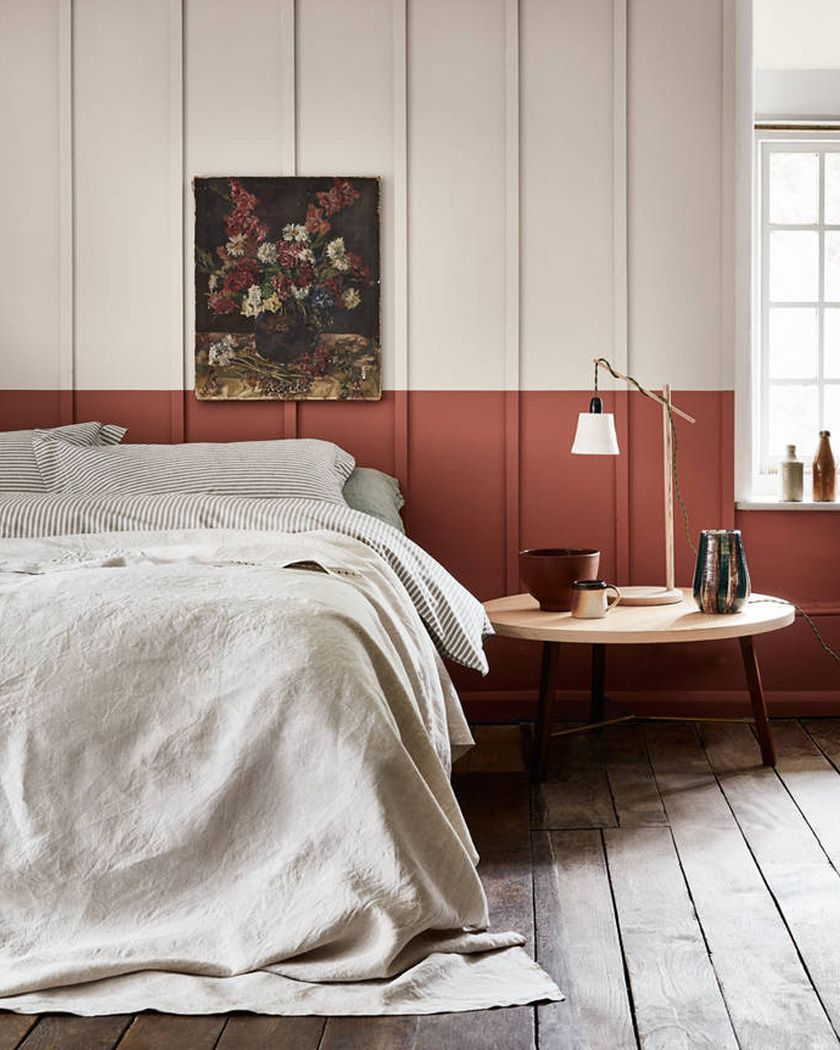 color home trend terracotta bedroom  Peinture chambre, Peinture