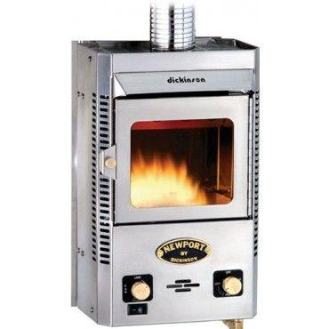 Dickinson P12000 Newport propane heater with 12V blower fan  Heavily