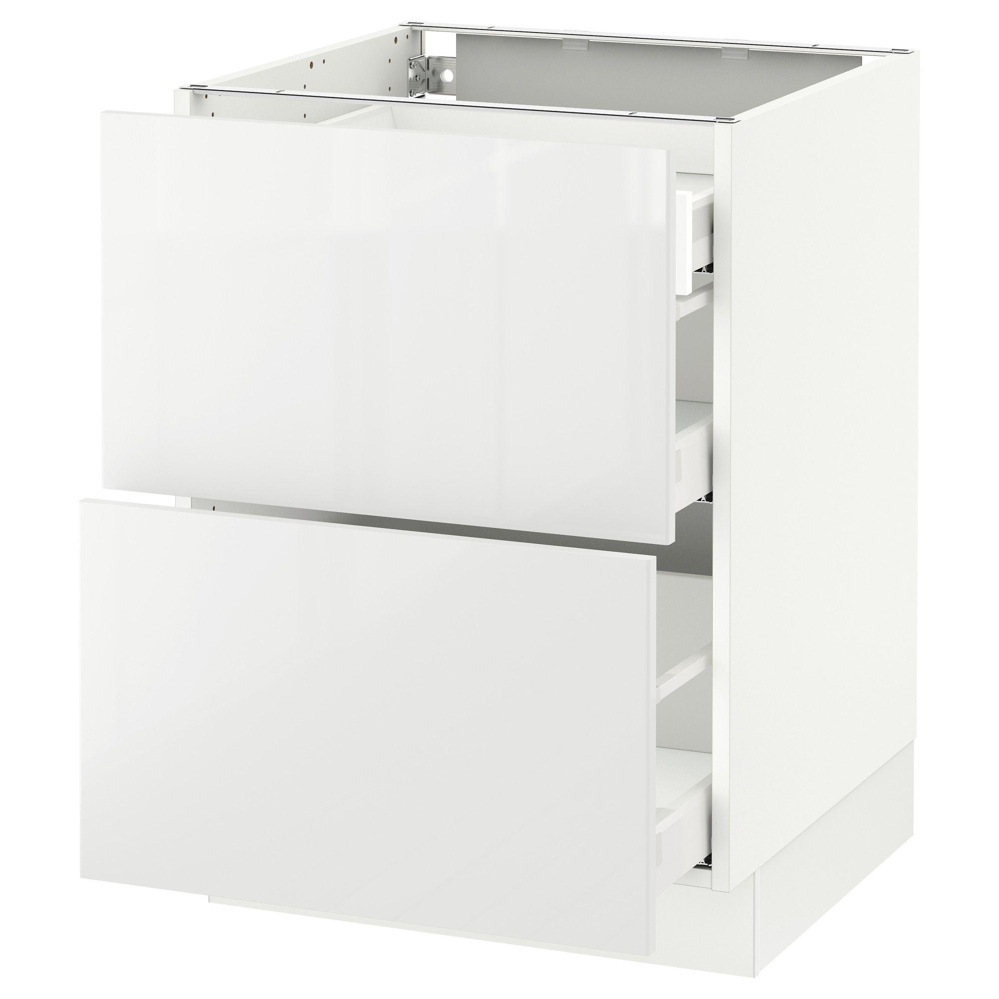 Ikea Sektion Blanc Arm Inf 2 Faces 3 Tiroirs Frame Colour