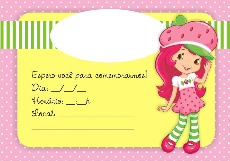 Mini Kit Personalizado Moranguinho Para Imprimir Moranguinho