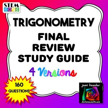 pre calculus final exam multiple choice
