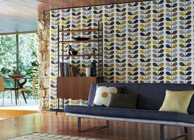 Harlequin Orla Kiely Wallpapers13 Deco Salon Pinterest Papier