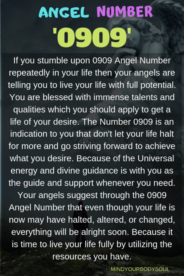 0909 Angel Number: Live Your Life To Optimum Limit. - Mind Your Body Soul