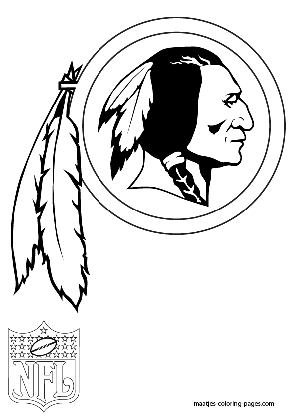 redskins-coloring-page | nfl $$ | Pinterest | Silhouettes ...