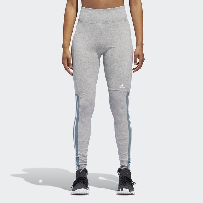 Leggings adidas Originals 3 Stripes Tight grau meliert