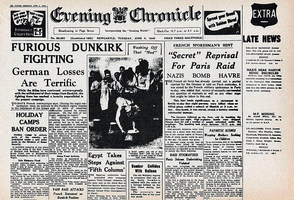 8c75fa052ad003dba28b036ead3818f8 Jpg 1024 698 Newspaper Headlines Dunkirk Vintage Newspaper
