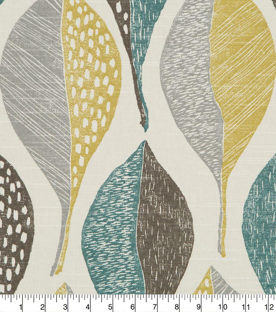 Robert Allen Home Upholstery Fabric 55 U0027 Woodblock Leaf Rain