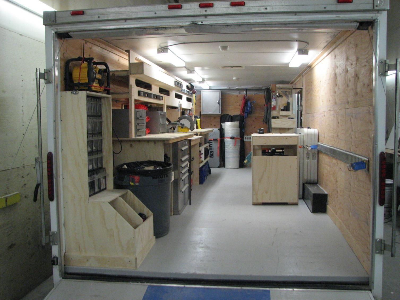 service truck air compressor setup