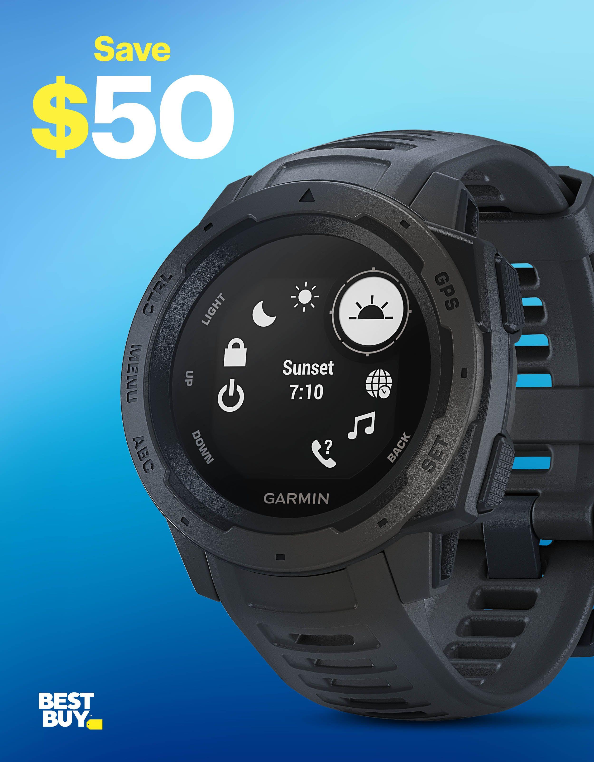 Garmin - Instinct Smartwatch Fiber-Reinforced Polymer