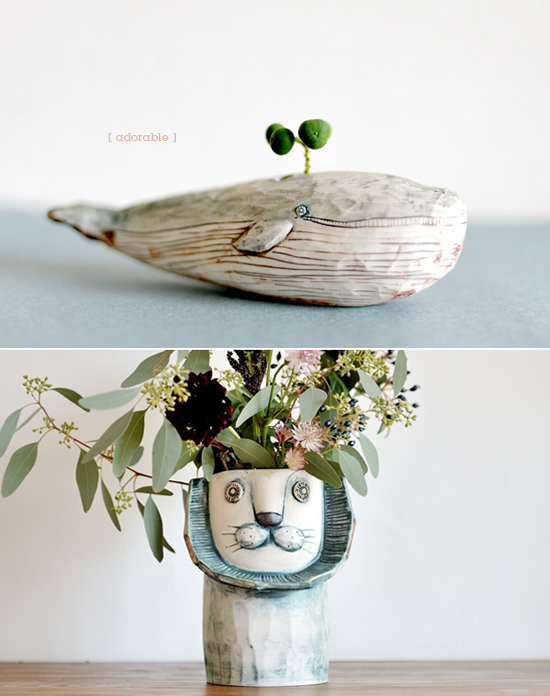 QUIRKY PLANTERS // the whale is awesome