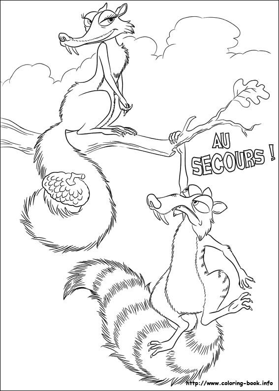 Ice Age coloring picture | Coloring and Activities | Pinterest