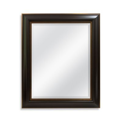 29-Inch x 35-Inch Wall Mirror with Bronze in Espresso - BedBathandBeyond.com.   5 of these for over each of the bathroom sinks?