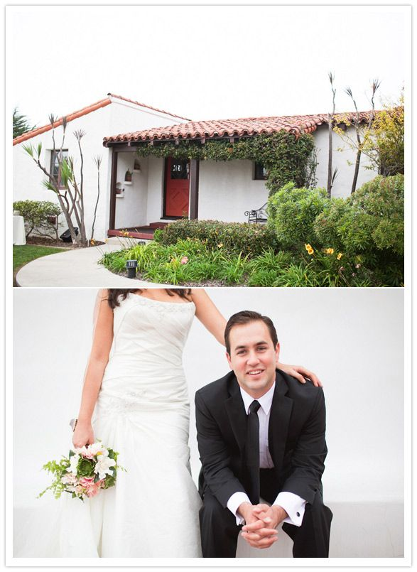 quaint spanish california cottage... wedding. not about the wedding, but i really want a spanish style house in socal :]