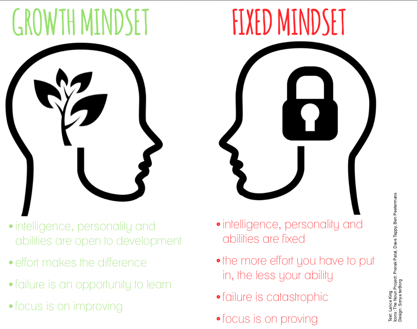 Growth Mindset Fixed Mindset | SonyaterBorg.com | Pinterest ...