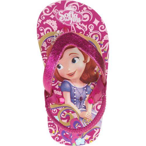 Disney Sofia The First Little Girls Flip Flops