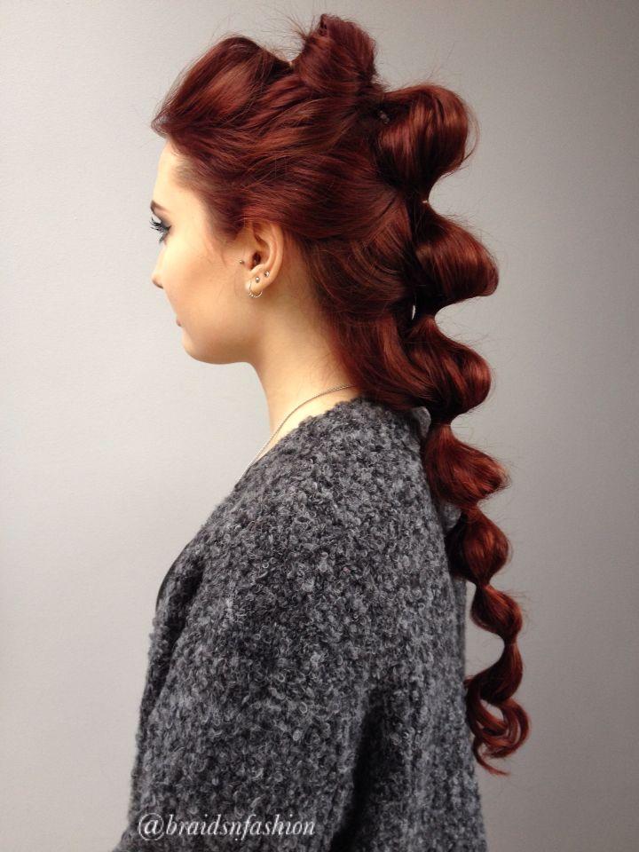 Bubble braid on red hair hair reference braids hair
