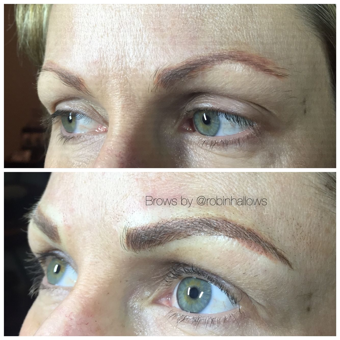 Microblading before and after...info on my Instagram