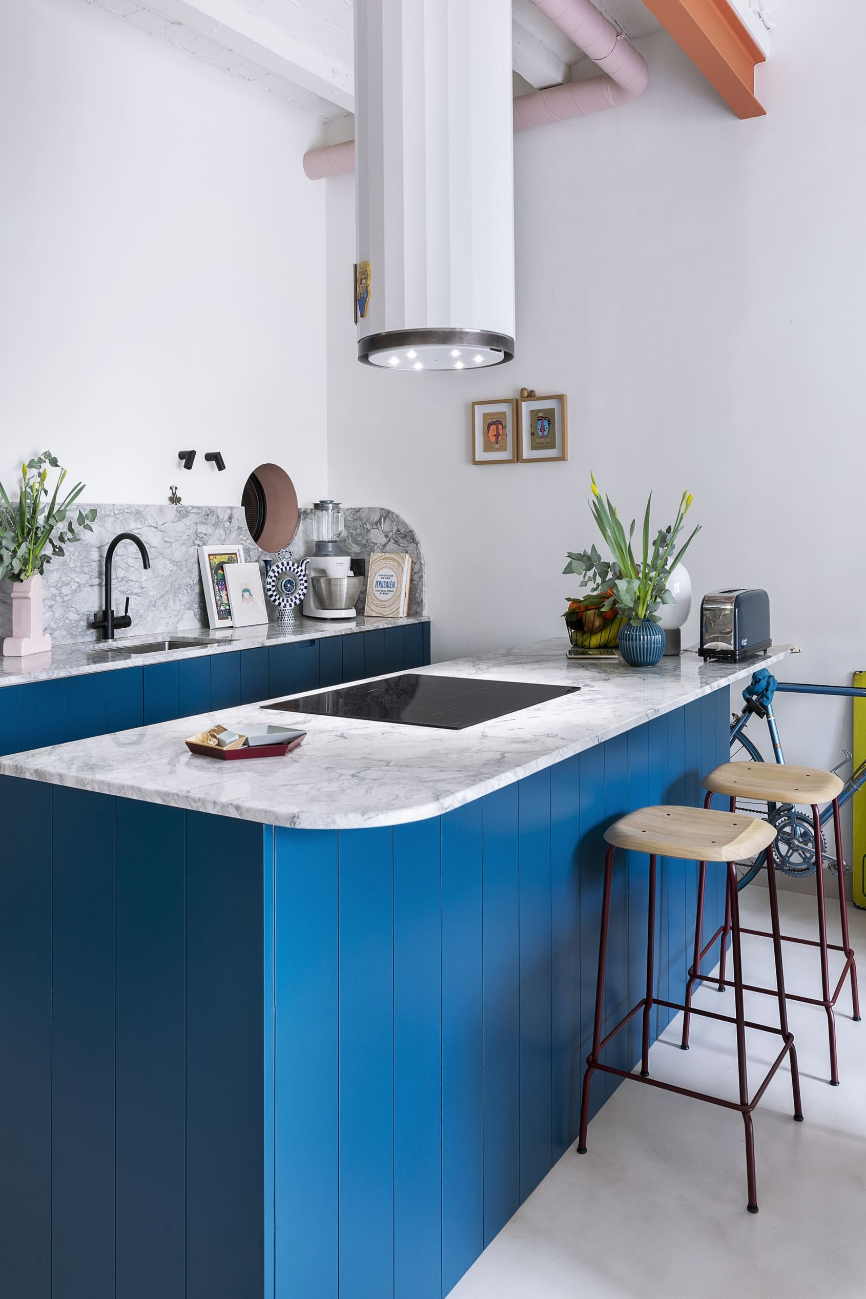 This Modern Remodel S Kitchen And Bathroom Color Palette Is Eye Popping Modern Kitchen Colours Kitchen Remodel Modern Remodel