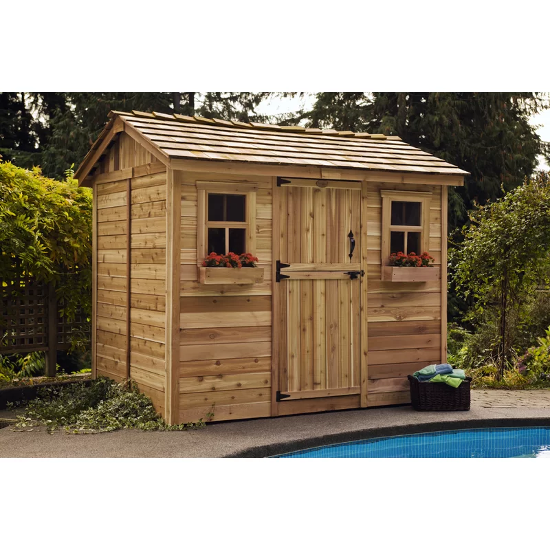 Cabana 9 Ft W X 6 Ft D Wooden Storage Shed Shed Plans Building A Shed Shed Building Plans