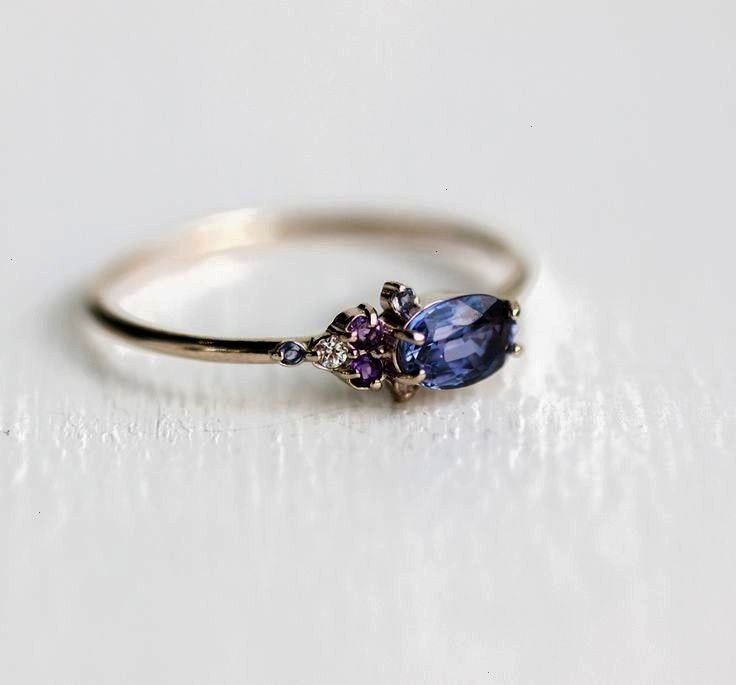 Finding the right jewelry for a special person  Blue Topaz Ring  Rose gold  Sterling Silver The Snow Queen Dainty ring will melt your heart into a shining puddle of diamo...