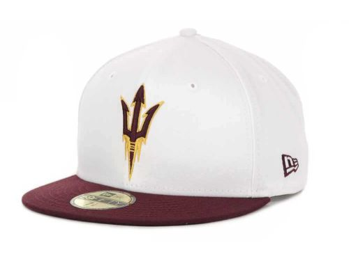 reputable site 71663 af886 Arizona State Sun Devils New Era NCAA White 2 Tone 59FIFTY Cap Hats  35
