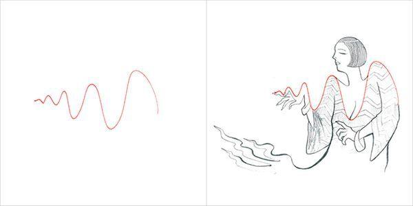 Kreativübung von Rafael Dukenny   Kunst aus roten Strichen