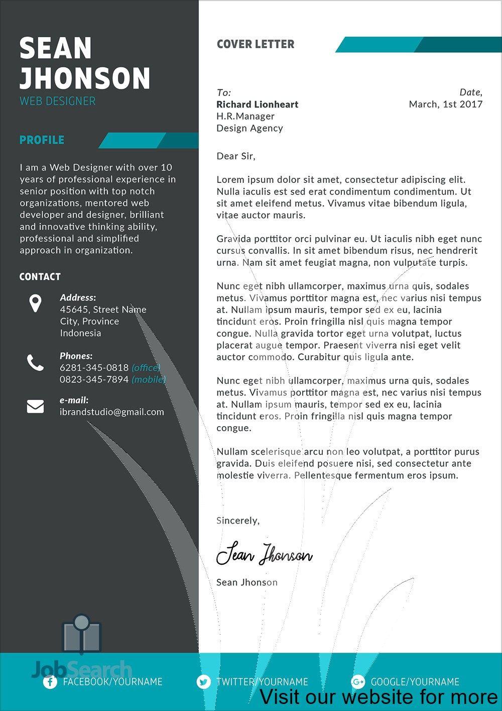 Designer Resume Creative Graphics Resume Design 2020 Cover Letter In 2020 Resume Design Cv Template Free Resume Template