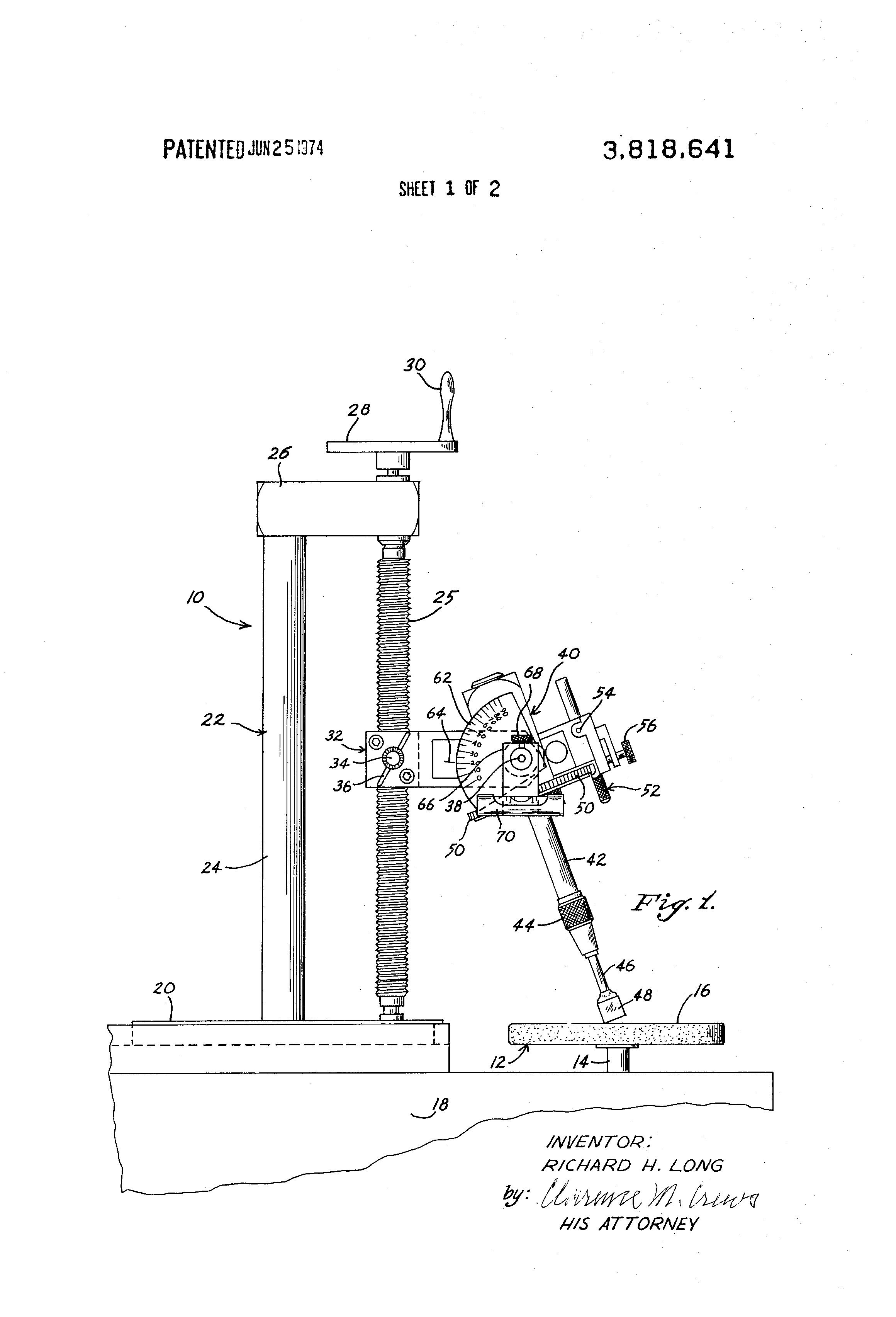 Patent Drawing Slijpmachine Edelstenen