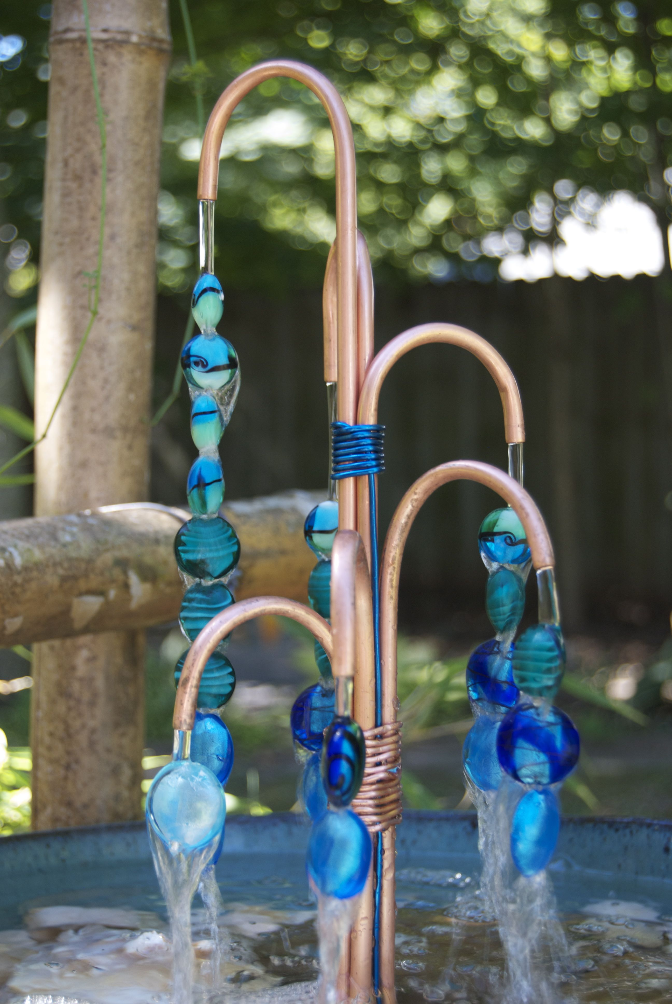 Copper Beaded Fountain Diy Water Fountain Garden Water 400 x 300