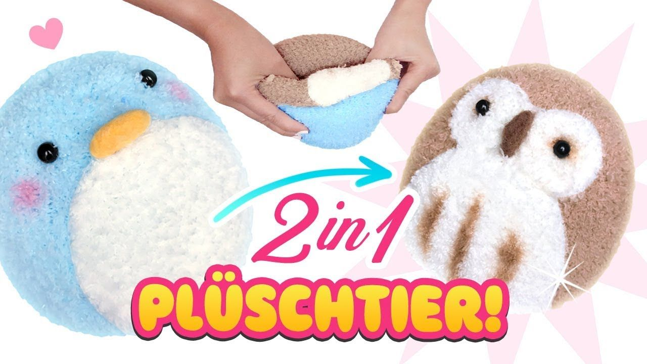 DIY 2 in 1 PLÜSCHTIER!!! Stofftier aus Socken! Einfach Spielzeug ...