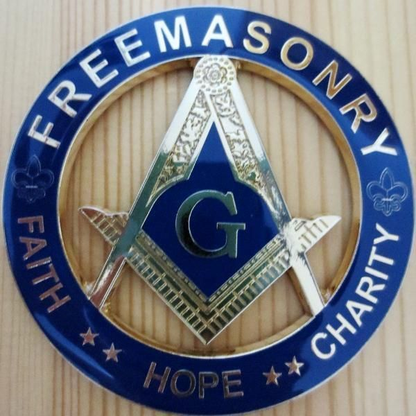 Freemasonry Faith Hope Charity Blue Car Emblem Freemasonry And Badges