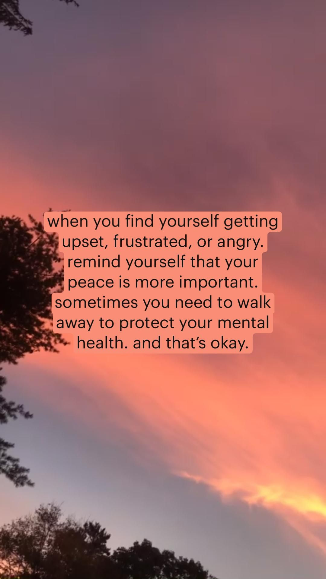 Protect your peace and mind no matter what.
