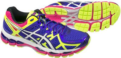 womens asics gel kayano 21 purple yellow